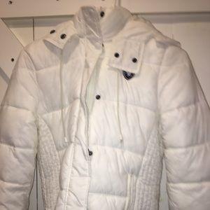 White puffer coat, like new